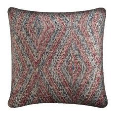 Mercana Modern Accent Pillow, Red-Orange