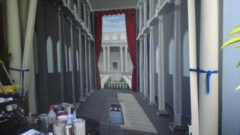 Roman columns (backyard shed), New Orleans