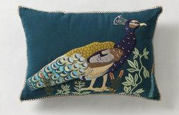 Iridescent Plumage Pillow
