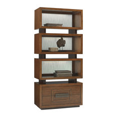 coaster p with furniture bookshelf jacqueline in tiered cappuccino cabinet