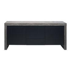 Kobe 2-Door 3-Drawer Sideboard, Concrete