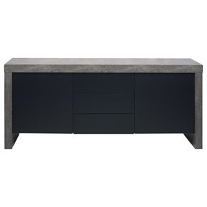 Kobe 2-Door 3-Drawer Sideboard, Concrete
