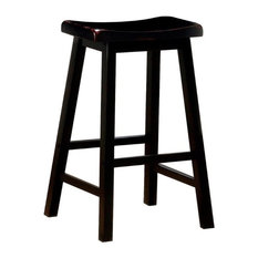"Bowery Hill 29"" Wooden Backless Bar Stool in Black"