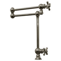 Whitehaus WHKPFDCR3-9555-C Deck Mount Two Jointed Pot Filler In Polished Chrome