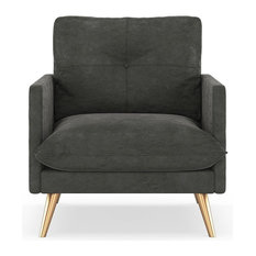 Remy Armchair Micro Suede, Charcoal