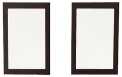 Set Of 2 Bathroom Mirrors With Solid Wood Trim In Espresso More Info