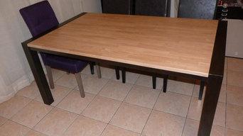 mobilier sur mesure acier bois