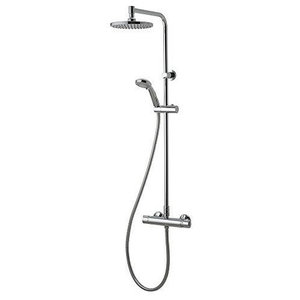 Chrome Thermostatic Bar Mixer Shower With Diverter, Simple Contemporary Design