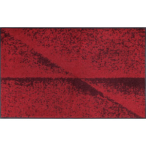 Red Shadow Door Mat, 120x75 cm