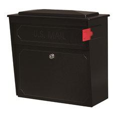 Mail Boss Townhouse Security Locking Wall Mount Mailbox, Black