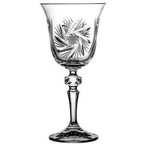Laura Pinwheel Lead Crystal Wine Glasses, Set of 6