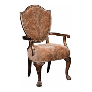 Hekman New Orleans Upholstered Arm Chair Praline Set Of