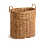 Tall Narrow Wicker Tote Basket