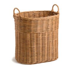 The Basket Lady - Tall Narrow Wicker Tote Basket - Hampers