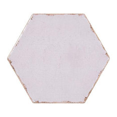 Annie Selke Farmhouse Hex Orchid Porcelain Wall and Floor Tile 8 x 8 in.