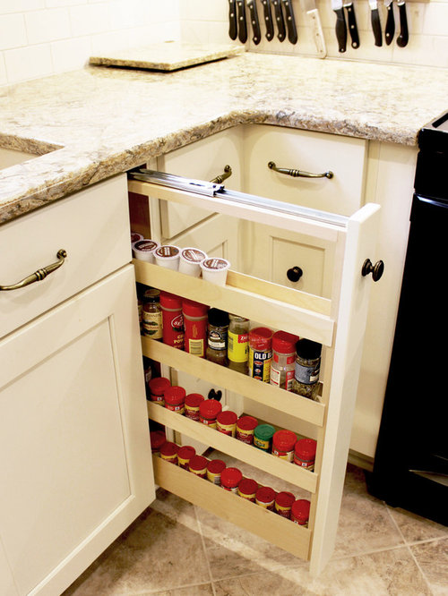 Century Home White Kitchen Remodel ~ Akron, OH - Pantry And Cabinet Organizers
