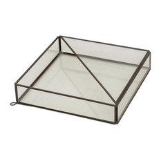 Garden Desire Glass and Brass Terrarium