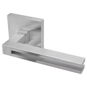 "Lever 95 Square, Passage Function, 2.68"", Marine Grade 316, Polished"