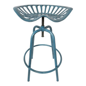 Esschert Design Tractor Seat Chair, Blue