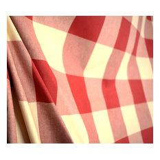 Buffalo Check Claret Pkaufmann Red And Off White Cream Check Fabric