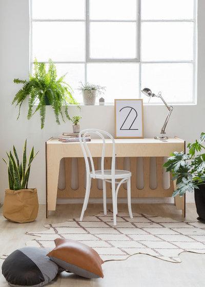 Contemporain Bureau à domicile by Eclectic Creative