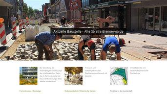 Website für Landschaftsarchitekten