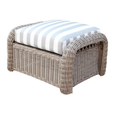 South Sea Rattan Arcadia Outdoor Ottoman, Driftwood 77306