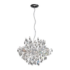 Wisteria 12-Light Round Pendant, Chrome