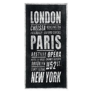 """London, Paris, New York"" Canvas Print by Barry Goodman, 50x100 cm"