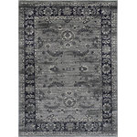 Allstar Rugs - Allstar Rugs Persian Rectangular Accent Rug, Gray, 8'x10' - The original artistry of area rugs infused with the design schemes and colors of today.