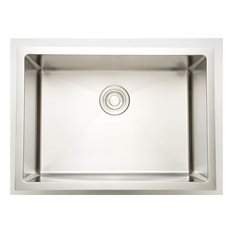 Laundry Sink for Deck Mount Faucet in Chrome