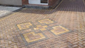 New driveway installed by us with nice designs