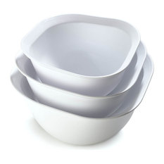 Cuisipro Mixing Bowl Set, 3--Piece, White