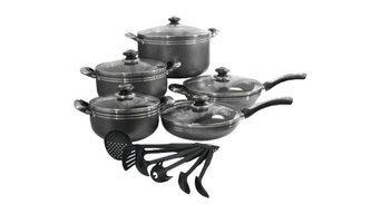16-Piece Nonstick Aluminum Cookware Set
