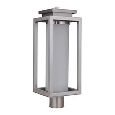 Craftmade Vailridge Large LED Outdoor Post Mount, Stainless