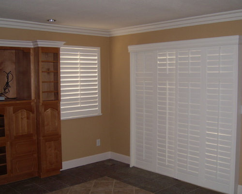 SaveEmail. Plantation Shutters For Sliding Glass Door. 26 Saves | 0  Questions. Sliding Shutters Modernize ...