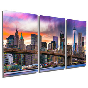 Houston City Skyline Urban Modern Wall Art Contemporary Cityscape Artwork Contemporary Metal Wall Art By Modern Crowd Houzz