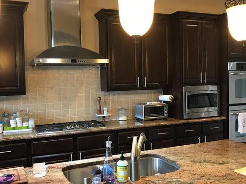 Rust Colored Granite Espresso Cabinets Paint Color Help