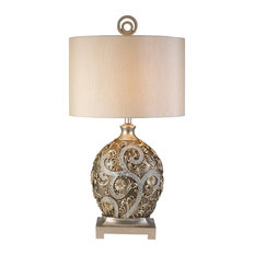 traditional table lamps  houzz, Bedroom decor
