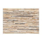 """Brewster Home Fashions Whitewashed Wood Wall Mural, 100"""""""