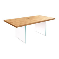 Snooker Oak Dining Table, Large