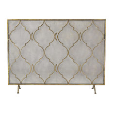 Sterling Agra Antique Gold 34-Inch Metal Fire Screen 351-10247