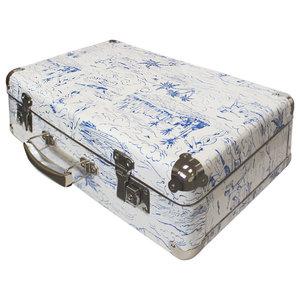 White and Blue Catch a Wave Decorative Box, Medium