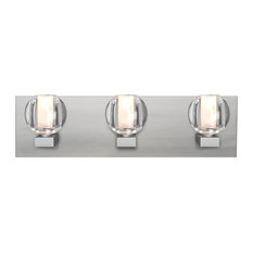 Besa Boca Vanity, Clear, Satin Nickel
