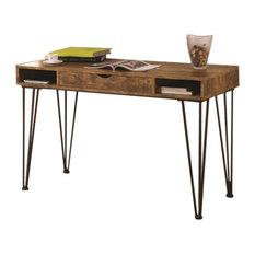 Coaster Fine Furniture   Coaster Writing Desk, Antique Nutmeg And Dark  Bronze   Desks And