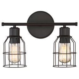 Industrial Bathroom Vanity Lighting by Lighting New York