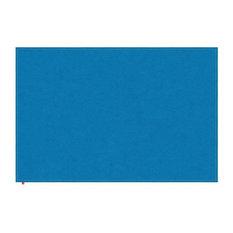 Liv Light Blue Hall Rug, Light Orange Stitching, 90x160 cm