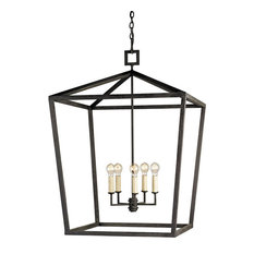 Currey and Company 9872 Denison 4 Light Lantern Style Chandelier