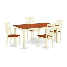 5-Piece Nicoli Table And 4 Wood Dining Chairs Buttermilk