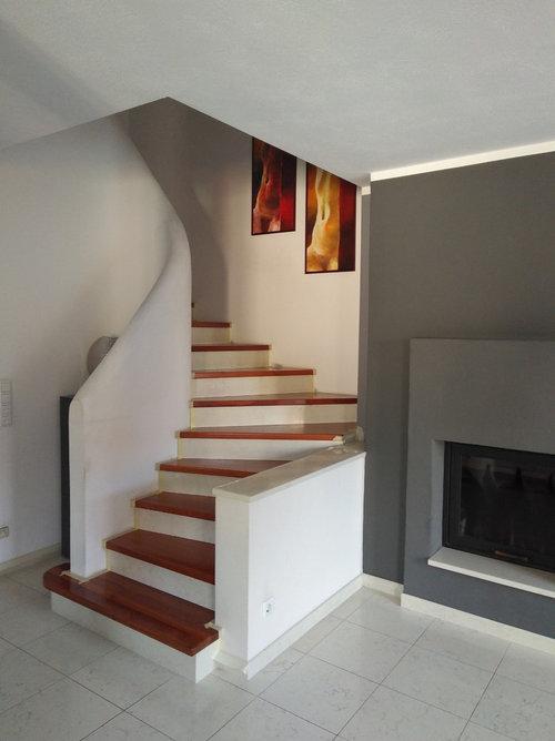 Treppenhaus streichen streifen  Treppenhaus grau streichen Ideen